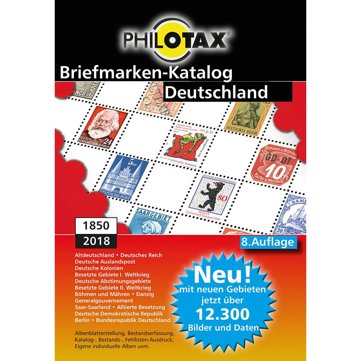 Philotax Dvd Briefmarken Katalog Deutschland 8 Auflage