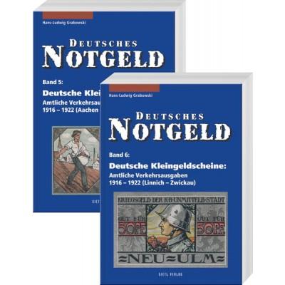 Deutsches Notgeld Band 5 + 6: Deutsche Kleingeldscheine – Amtliche Verkehrsausgaben 1916–1922, 1. Auflage 2004