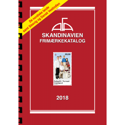 AFA Scandinavia stamp catalogue 2018 with sprial back binding