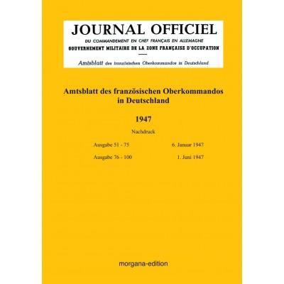 Peter N. Morgen: Amtsblatt des französischen Oberkommados in Deutschland 1947
