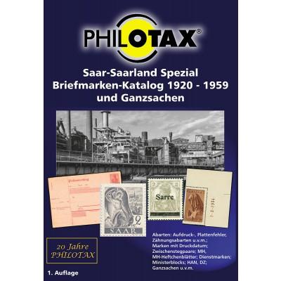PHILOTAX DVD Saar - Saarland Spezial Briefmarken-Katalog 1920 - 1959 und Ganzsachen