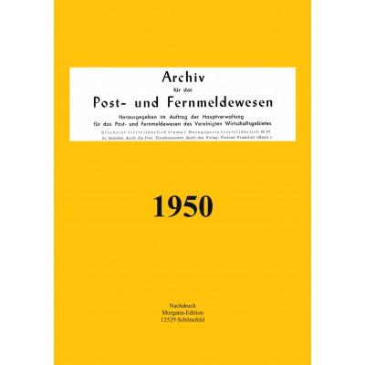 Peter N. Morgen: Archiv für das Post- und Fernmeldewesen 1950