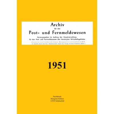 Peter N. Morgen: Archiv für das Post- und Fernmeldewesen 1951