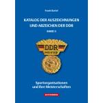 Katalog der Auszeichnungen und Abzeichen der DDR, Band 3 - Sportorganisationen und ihre Meisterschaften