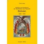 Claus Lange: Katalog und Handbuch der Briefmarken der Republik Bolivien 1859 - 1945