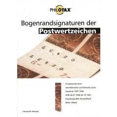 PHILOTAX Bogenrandsignaturen der Postwertzeichen gedrucktes Handbuch