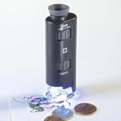 Zoom-Mikroskop mit LED 60- bis 100-fach
