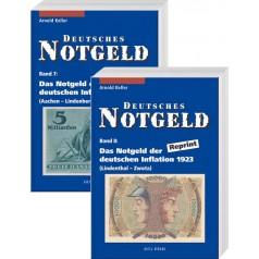 Deutsches Notgeld Band 7 + 8: Das Notgeld der deutschen Inflation 1923, Reprint, 1. Auflage 2004