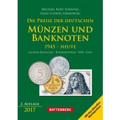 Die Preise der deutschen Münzen und Banknoten 1945 - Heute