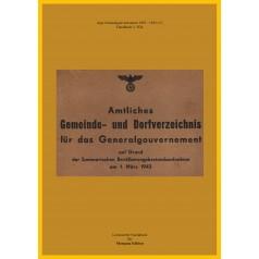 Statistisches Amt: Amtliches Gemeinde- und Dorfverzeichnis für das Generalgouvernement
