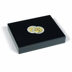 Leuchtturm Münzkassette, 3-lagig für 105 2-Euro-Münzen in Kapseln