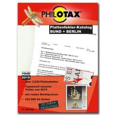 PHILOTAX Gedruckter Plattenfehler-Katalog Bund + Berlin 6. Auflage